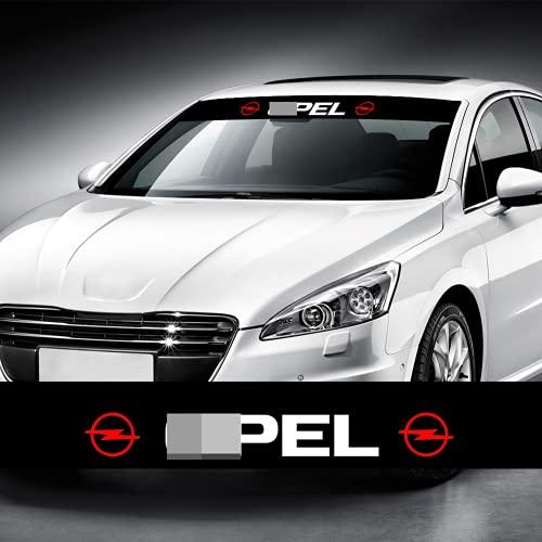 YANGSHENGL Auto Front Heckscheibe Aufkleber Schwarz Vinyl Aufkleber, Für Opel Astra HJG Insignia Corsa DE Vectra C Vivaro Zafira B Mokka 2021.