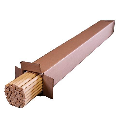 Varilla redonda de madera/ 1000 mm x 12 mm (diámetro)