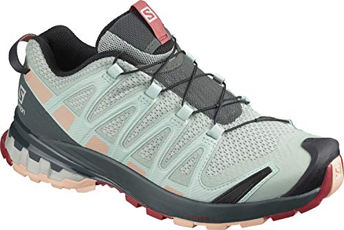 Salomon XA Pro 3D v8 GTX W, Zapatillas de Trail Running para Mujer, Gris (Aqua Gray/Urban Chic/Tropical Peach), 41 1/3 EU