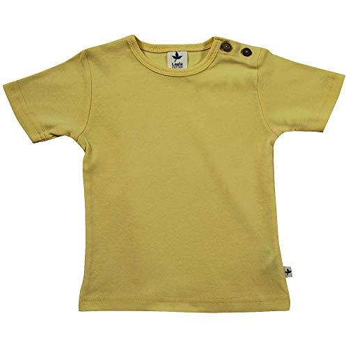 Leela - Camiseta de algodón orgánico para bebé y niño amarillo limón 98 cm-104 cm