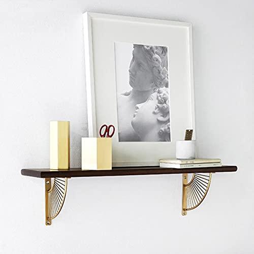 Soporte estante estante estante en forma de abanico, soporte de trípode estante de pared estante de madera estante de pared estante de metal dorado partición en línea en ángulo recto ( Size : A )