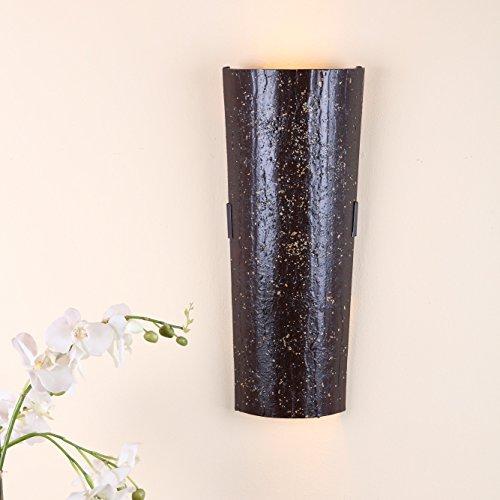 Dachziegelleuchte Mousse au chocolate   Wandleuchte Dachziegel nur für Innen   Wandlampe inkl. GU10 Leuchtmittel   Wandlampe mit Klosterziegel handbemalt