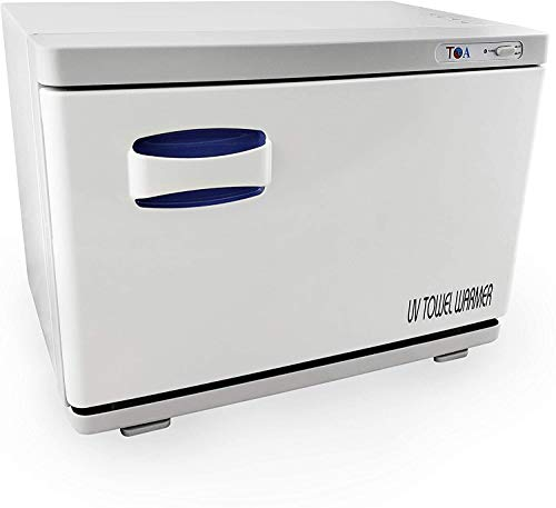TOA Supply Spa Beauty Salon Equipment UV Light Sterilizer Hot Towel Warmer Cabinet with Tray 2 in 1, 18S