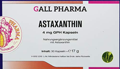 Gall Pharma Astaxanthin 4 mg GPH Kapseln, 1er Pack (1 x 30 Stück)