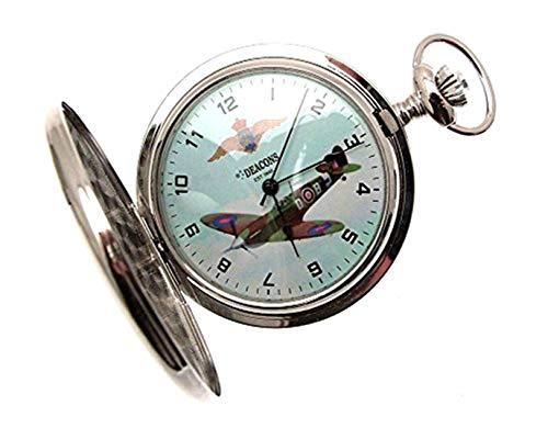 Spitfire Halbjäger-Taschenuhr für Herren, Spitfire Design