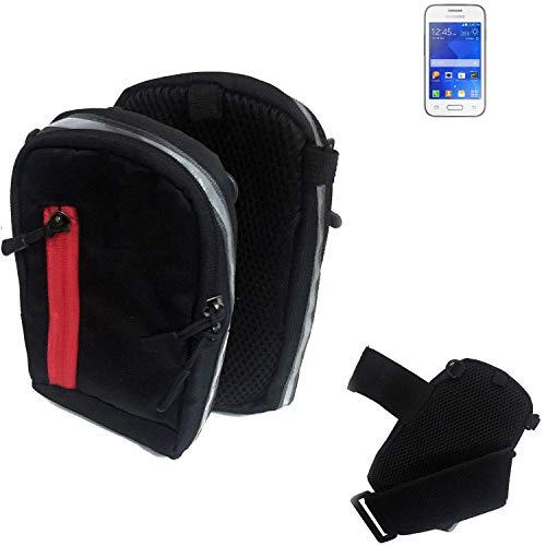 K-S-Trade® Bolso Al Aire Libre De La Bolsa De La Pistolera De La Bolsa para Samsung Galaxy Young 2 Caja del Teléfono Móvil Negro Caja del Teléfono Móvil Travelbag