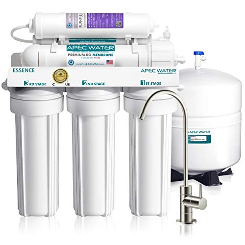 APEC Water Systems ROES-PH75 Essence Series Top Tier Alkaline Mineral pH+ 75 GPD 6-Stage Certified Ultra Safe Reverse Osmosis Drinking Water Filter System