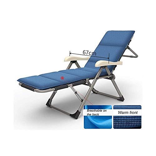 FZYE Liegestuhl Liege Klappliege Zero Gravity RecliningGarden Chair Zero Gravity Stuhl Outdoor Sun Lounger Tragbarer...