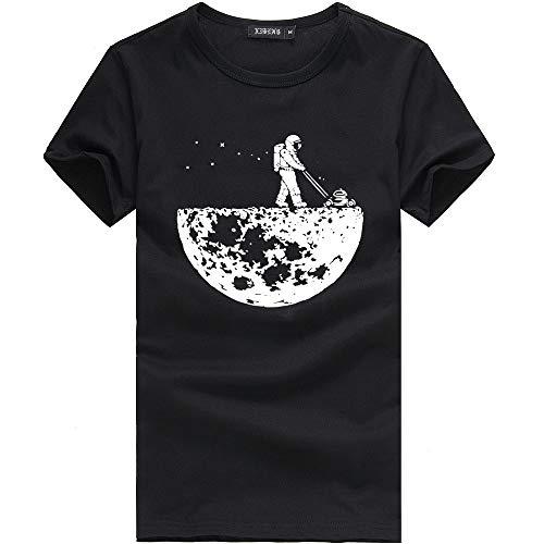 Fannyfuny Hombres Mujeres Pareja Camisetas Hombres Mujeres Pareja Modelos Patrón Imprimir O-Cuello de Manga Corta Barata Camiseta Tops Blusa de Amor Camiseta Blanca Hombre