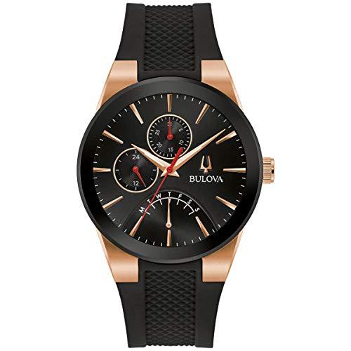 Bulova 97C111 Men's Futuro TT Black and Rose Gold Case Strap Watch