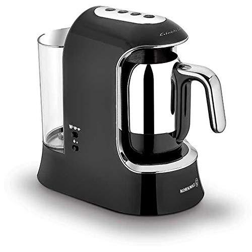 Korkmaz Kaffeekolik elektrischer Mokkakocher Espressokocher Aqua 700 W 4 Tassen Schwarz |