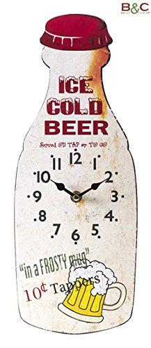 Slim Reloj de Madera Beer–Tamaños Color cm 37x 14
