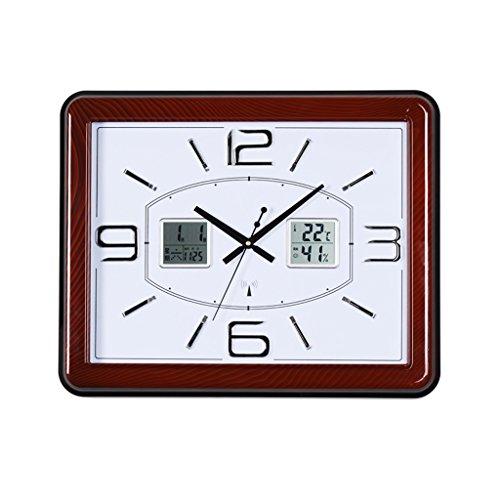 reloj de pared Relojes y Relojes Sala de Estar Dormitorio Creativo Escaneo de Temperatura y Humedad Medidor Reloj eléctrico Inteligente JXLBB
