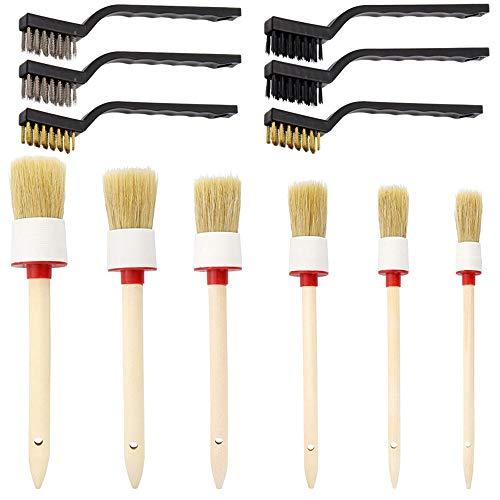 SourceTon Auto Detailing Brush Set, 12 Packungen Master Detailing Pinsel für Reinigung von Rädern, Lüftungsschlitzen, Motoren, innen, außen, Zierleisten, Leder, Klimaanlage, Auto, Motorrad