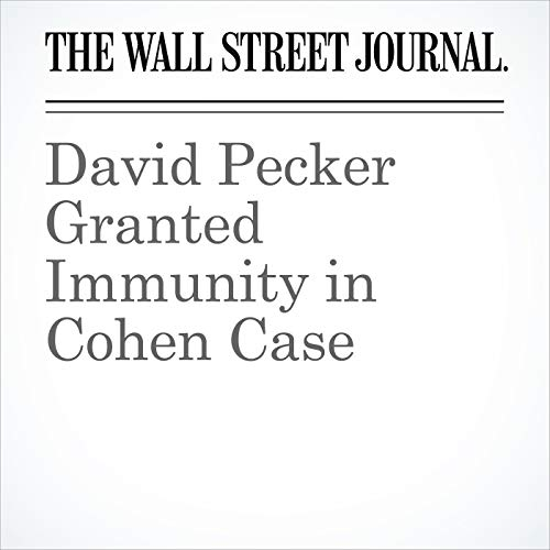David Pecker Granted Immunity in Cohen Case copertina