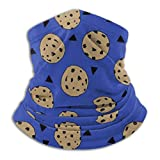 jhgfd7523 Winter Neck Warmer,Chocolate Chip Cookie Blue Outdoor Knit Headwear Wool Snow Ski Caps Face Mask,for Mens
