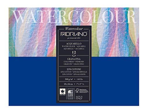 Bloco Aquarela Fabriano Gr o Fino - 300g 018 x 24 cm 012 Fls 17311824