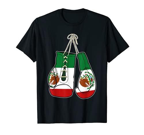 Guantes de Boxeo Bandera de México Kickboxer Combat Fighter Camiseta