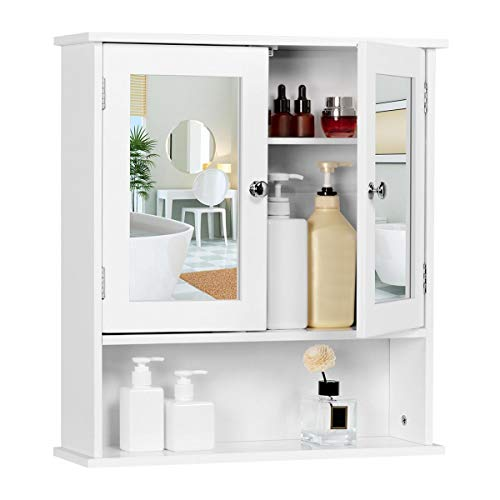 Yaheetech Bathroom Wall Cabinets - Mirrored Cabinet with...