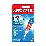 Loctite Super Glue-3 Pure Gel, colle transparente & puissante, colle forte formule gel sans odeur ne colle pas les doigts, colle repositionnable, tube de 3 g