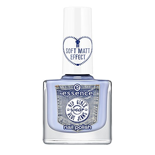 Essence Hip Girls Wear Blue Jeans Nail Polish n ° 04 Don't Be Shy. contenu : 9 ml vernis à ongles soft mat Effect. Nail Polish