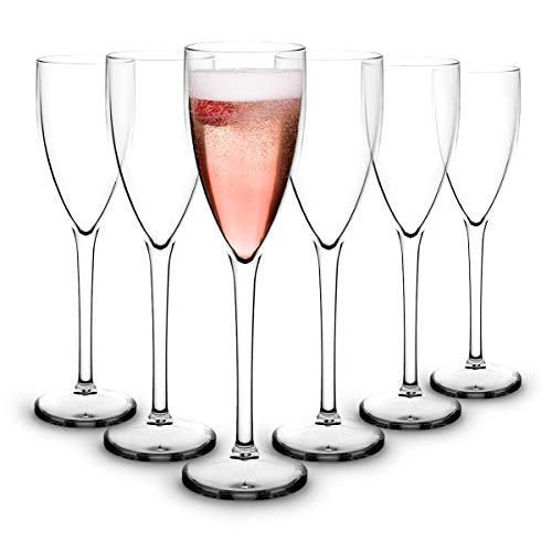 RB Calici da Vino Rosso Plastica Premium Infrangibile Riutilizzabile 25cl, Set di 6