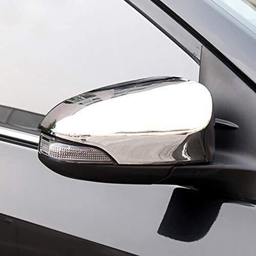 in Fibra di Carbonio di Alta qualità ABS Plastic Color Side Door Specchio retrovisore Copertina assetta for Toyota CHR 2016 2017 2018 2PCS / Set Car Styling (Color : ABS Chrome)