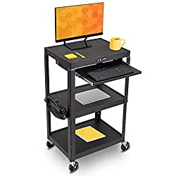 Best Standing Desks for Teachers - Line Leader AV Cart on Wheels Review