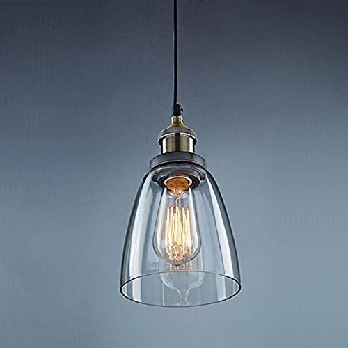 Unimall Retro Edison Lampada a Sospensione Plafoniera in Vetro lampada a SoffittoSteampunk Lampadario Loft Decorazioneper SalaBar Ristorante Ufficio