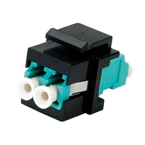 ROLINE Keystone Adapter I LWL Kupplung LC - LC I Multimode, OM3, Türkis