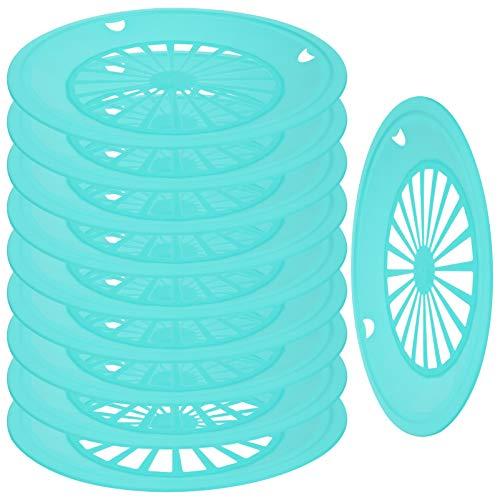 YARNOW 10 Soportes de Plástico para Platos de Papel Platos de Plástico de 10 Pulgadas Vajilla de Plástico Reutilizable para Fiestas Barbacoa Y Picnic (Verde)