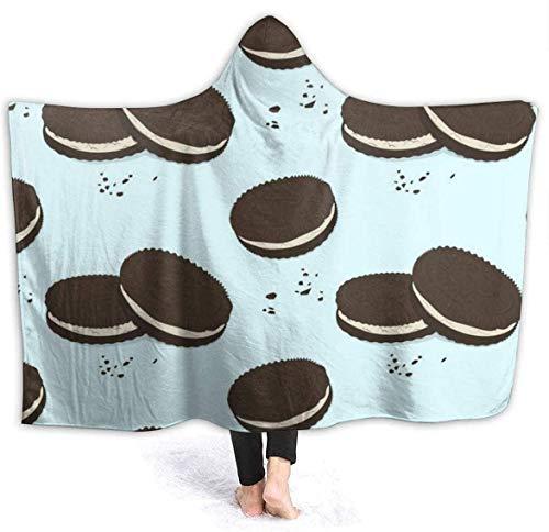 Manta de Tiro cálida para Galletas de sándwich de Chocolate para Mujer, Manta para Silla de Viaje, Manta Ligera para Cama de Invierno, 50x60 Pulgadas
