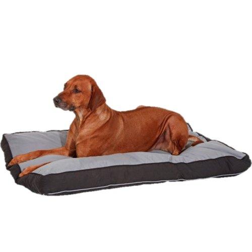 Doc Bed - Kochfest 95 Grad Hundedecke Hunde Liegekissen Hundebett Hundekorb eckig - grau/schwarz