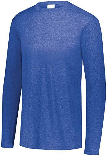 Augusta Sportswear Jongens Tri-blend Lange Mouw Crew, Royal Heather, S