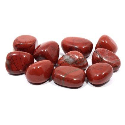CrystalAge - Piedra de jaspe pulida de color rojo (20-25mm)