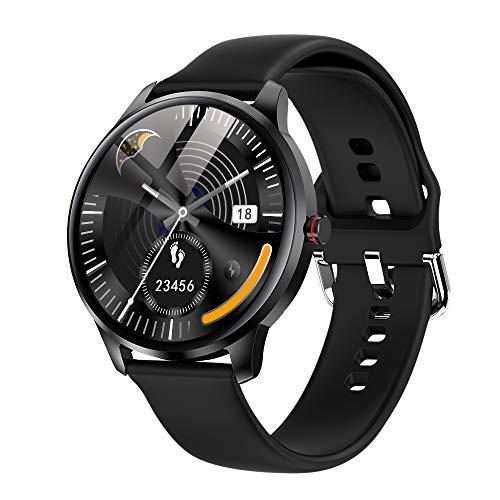 LEMFO Smartwatch Herren 1.3 Zoll Touchscreen smart Watch fitnessuhr mit personalisiertem Bildschirm, Herzfrequenz, Schrittzähler, Kalorien. IP68 Wasserdicht Fitness Tracker Sportuhr für Ios Android