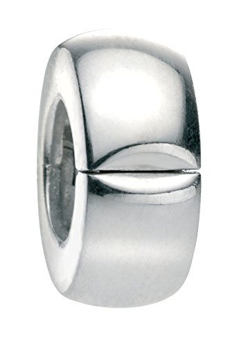 Elements Silver Sterling Silber Plain Silber Bead Clip