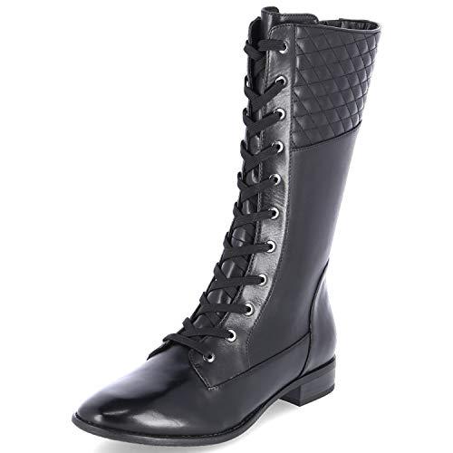 Gerry Weber Shoes Damen Sena 1 28 Hohe Stiefel, Schwarz (Schwarz Mi844 100), 42 EU