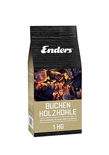 Enders® Buchenholzkohle für AURORA Tischgrill 1383, rauchfrei BBQ Grill, Buchen-Holzkohle für schenlles Anzünden, 1 KG