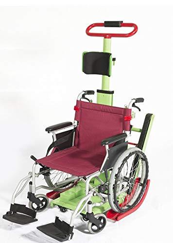 GZZ 2018 Treppensteigen Rollstuhl Elektrisch im Obergeschoss Rollstuhl Oben Spezialfahrzeug Behinderten Treppensteiger,Grün,63 * 56 * 112cm
