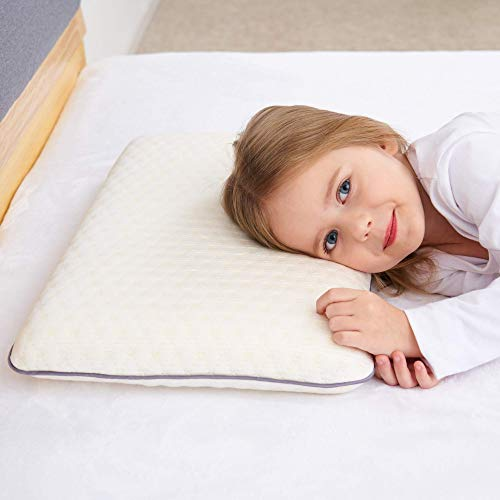 SIKAINI Almohada para niños Almohada para niños con Espuma viscoelástica Almohada hipoalergénica Almohada para niños para niños (3-8 años)