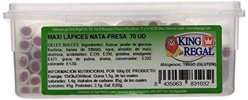 King Regal Maxi Lápices Nata Fresa - estuche 70 unidades