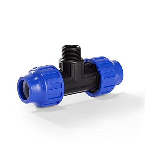 H2O-Flex PP-Fitting, Klemmverbinder - 20er T-Stück mit 3/4