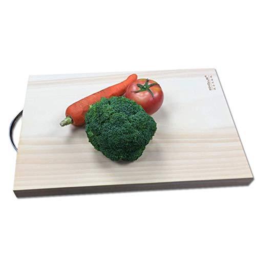 Deska do krojenia - drewniana deska do krojenia Deska do krojenia z litego drewna Domowa kuchnia Deska na owoce Naturalna ręka nie rani ostrza Deska do krojenia (brązowa, 20x30 cm), Gotowani