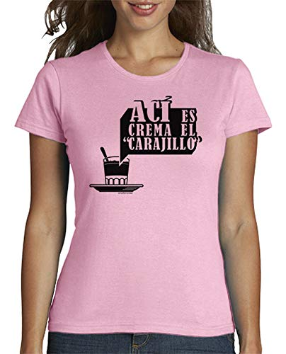 latostadora - Camiseta AC para Mujer Rosa XXL