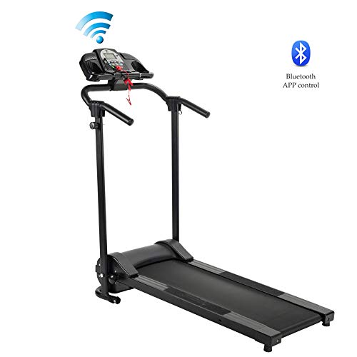 ZELUS Folding Treadmill for Home Gym, Portable Wheels, 750W Electric Foldable Running...