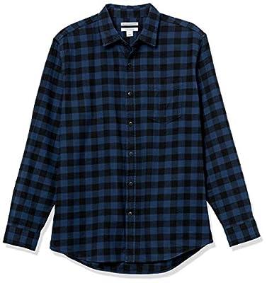 Amazon Essentials Men's Long-Sleeve Plaid Flannel Shirt