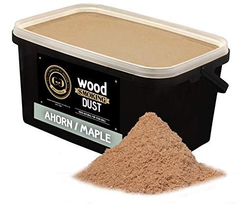 Grillgold Räuchermehl Wood Smoking Dust. Zum räuchen und kalträuchern von Fisch, Fleisch und Gemüse auch für BBQ und Grill geeignet. In Wiederverschliessbaren-Eimer befüllt mit 5,5 Liter Ahorn