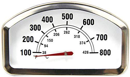 Mr. KAN hio138,6cm größere Face 800F Grill Heat Indicator Thermometer Ersatz für Brinkmann, Master Cook, Sonoma, Toskana Grill