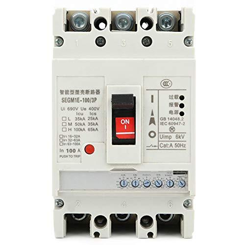 3P-Leistungsschalter, elektronischer Leistungsschalter SEGM1E-100/3P 3-Phasen-4-Draht-Luftschalter zum Schutz vor Phasenverlust